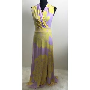 New York & Co. floral slvless maxi dress S